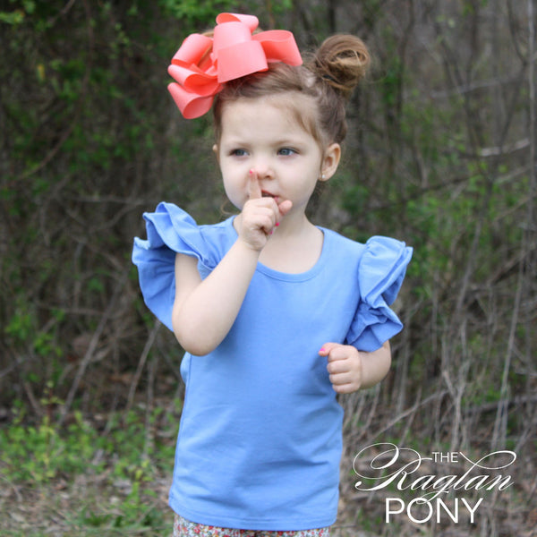 Flutter Top Cornflower - The Raglan Pony