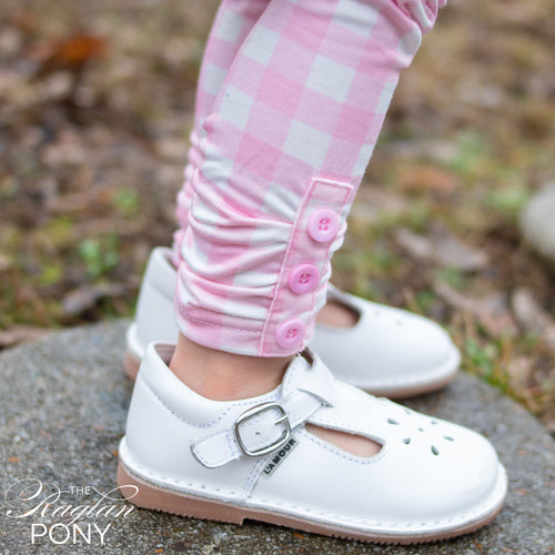 Hadley Tab - Pink Gingham - The Raglan Pony