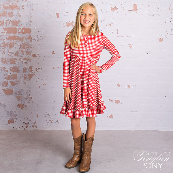 Julia Dress - Red Gingham