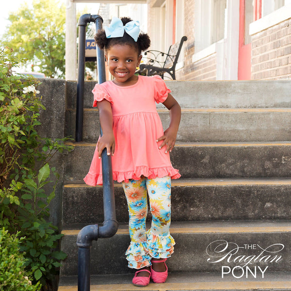Mae Ruffles - Brielle Floral - The Raglan Pony