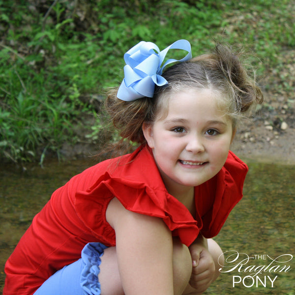 Flutter Top Red - The Raglan Pony
