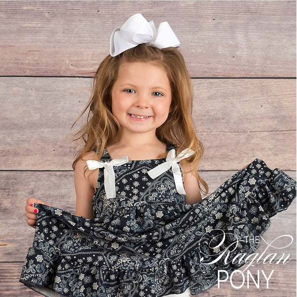 Millie- Bandana Navy - The Raglan Pony
