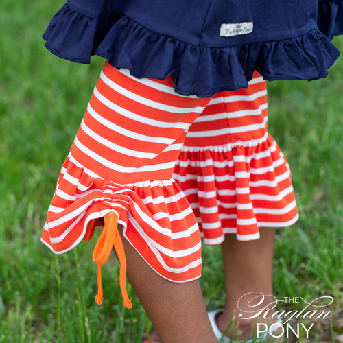 Capri - Quinn w/side tie- Orange Stripe