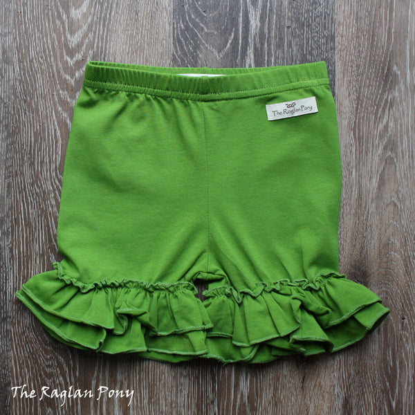 Ruffle Shorts Seaweed - The Raglan Pony