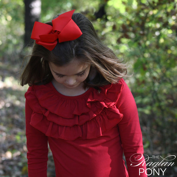 Willow Top Red - The Raglan Pony