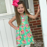 Albany- Mint Floral - The Raglan Pony