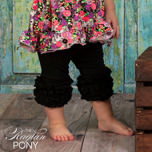 Capri Icing Black - The Raglan Pony