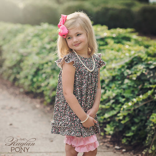 Pearl Dress Floral Black - The Raglan Pony