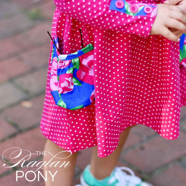 Brooklyn Dress - Hot Pink Dot Floral