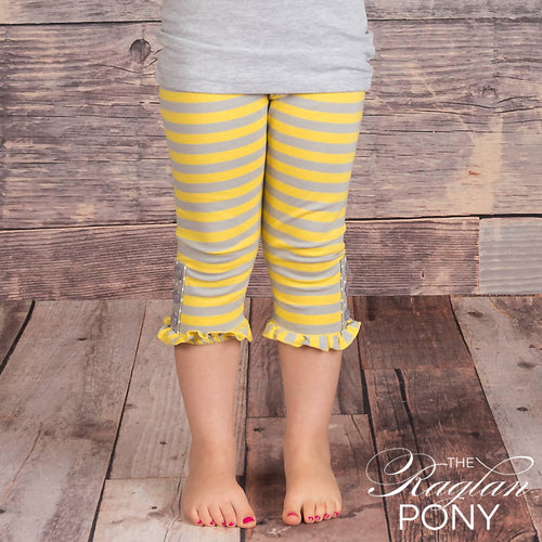 Capri - Hadley Tab Gry stripe - The Raglan Pony