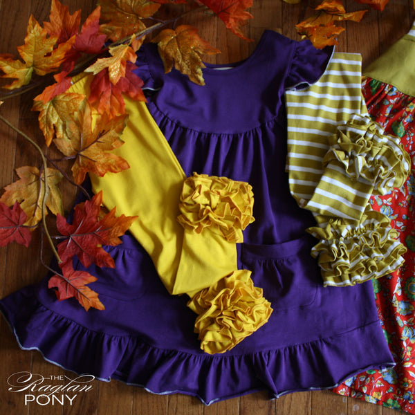 Nora Pearl Eggplant w/added pockets - The Raglan Pony
