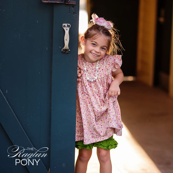 Pearl Dress Pink Floral - The Raglan Pony