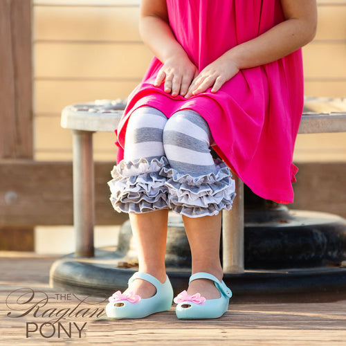 Capri - Icing Gray Stripe - The Raglan Pony