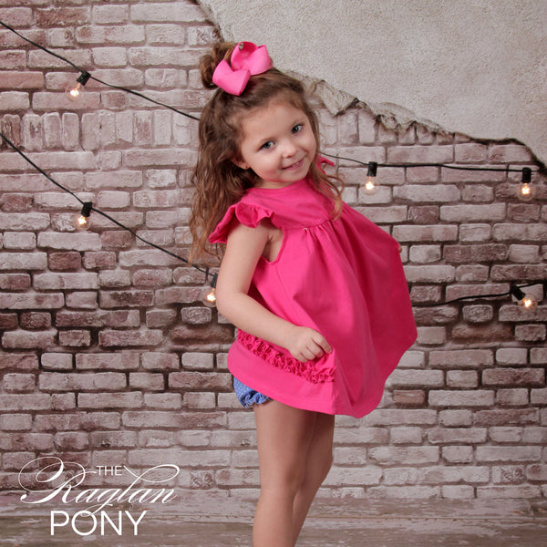Pearl Dress Hot Pink - The Raglan Pony