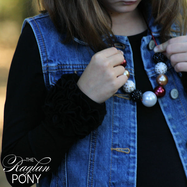 Icing layer top Black - The Raglan Pony
