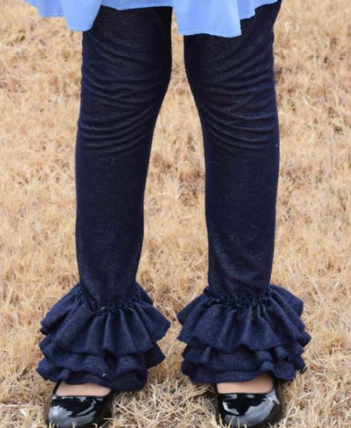 Mae Ruffles Denim - The Raglan Pony