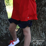 Ruffle Shorts Navy - The Raglan Pony
