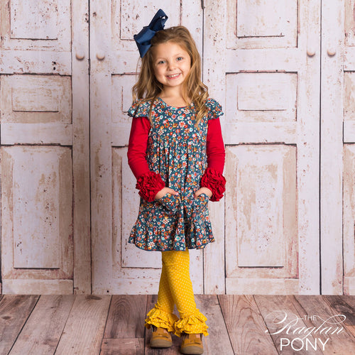 Nora - Navy Floral - The Raglan Pony