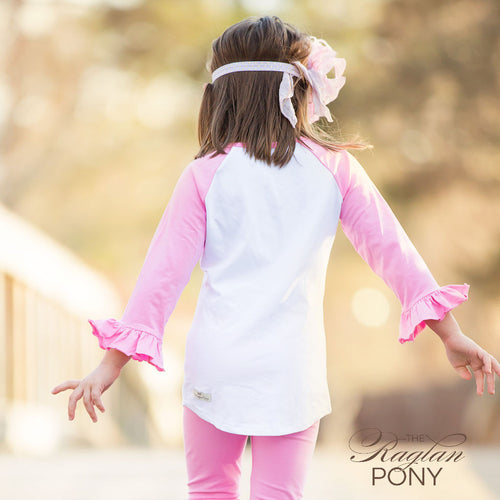 Raglan Pink/White - The Raglan Pony