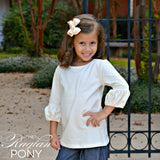 Puff Sleeve Top Buttercream - The Raglan Pony