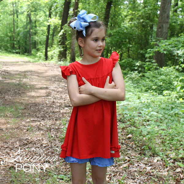 Pearl Dress Red - The Raglan Pony