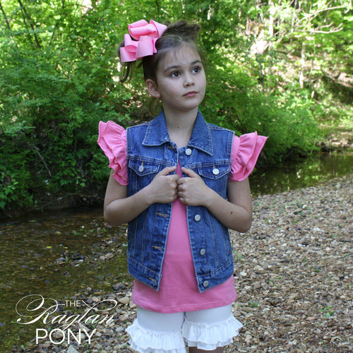 Flutter Top Pink Taffy - The Raglan Pony