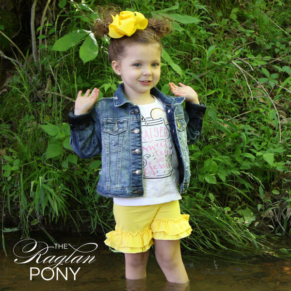 Ruffle Shorts Yellow - The Raglan Pony