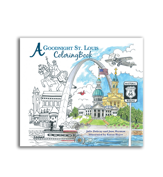 A Goodnight St. Louis Coloring Book<br>Soft Cover Only<br><br>Available Online and<br>at Retailers