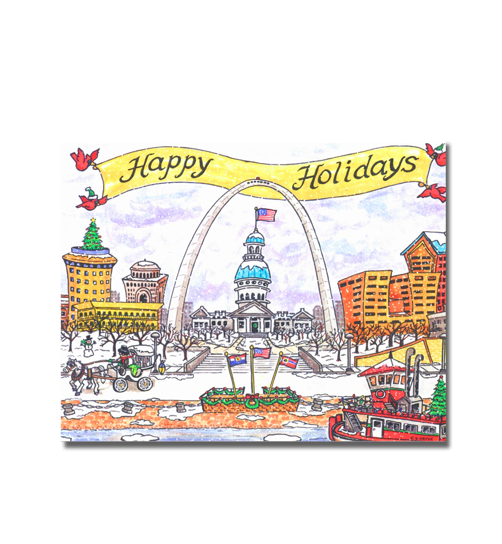 Goodnight St. Louis<br>Holiday Note Cards<br><br>Available Online and<br>at Retailers