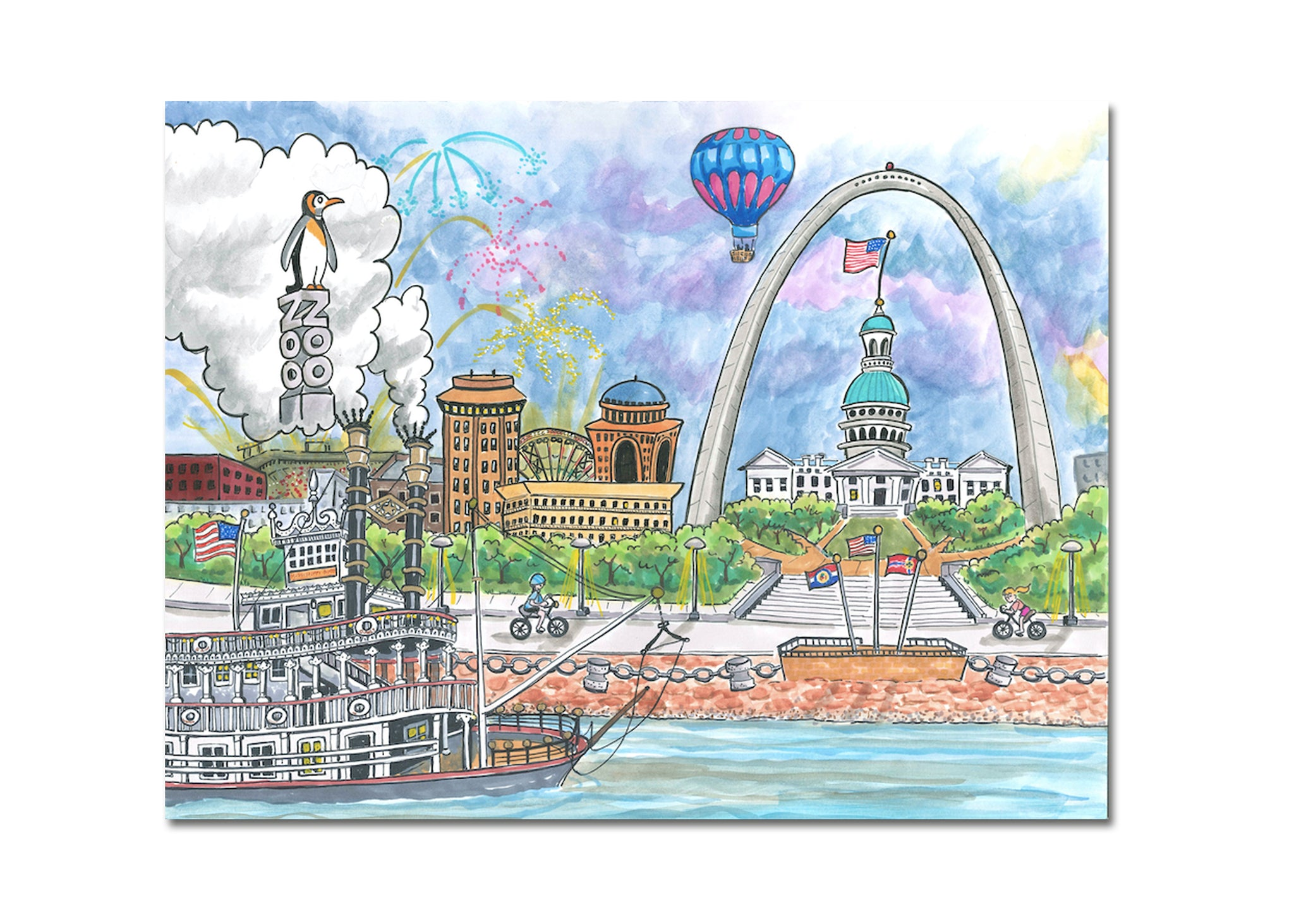 Goodnight St. Louis<br>Note Cards Series 3<br><br>Available Online and<br>at Retailers