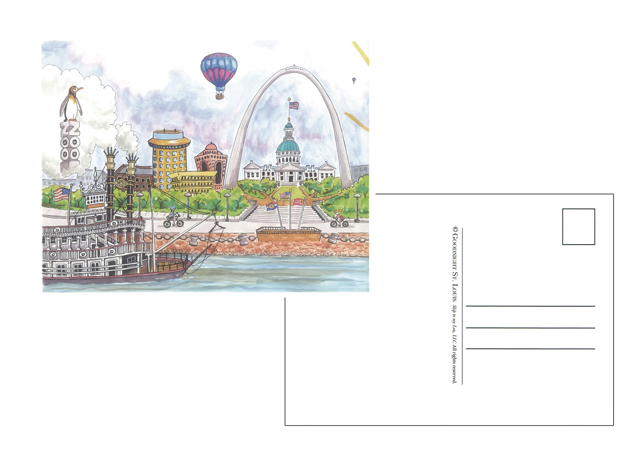 Goodnight St. Louis<br>Postcards<br><br>Available Online and<br>at Retailers