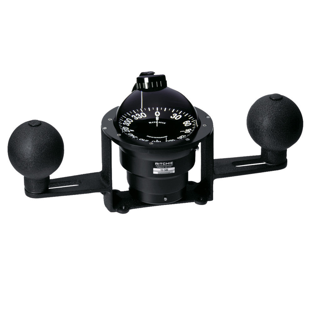 Ritchie YB-500 Globemaster Compass - Yoke Mounted - Black - 5 Degree card - 12V