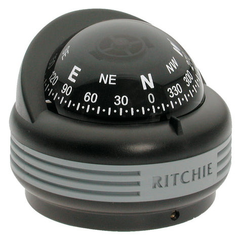 Ritchie TR-33 Trek Compass - Surface Mount - Black