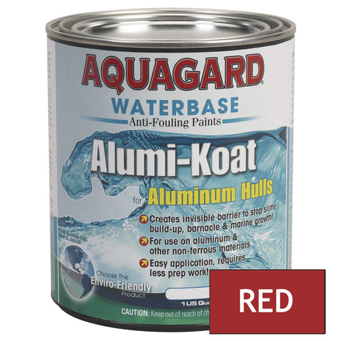 Aquagard II Alumi-Koat Anti-Fouling Waterbased - 1Qt - Red