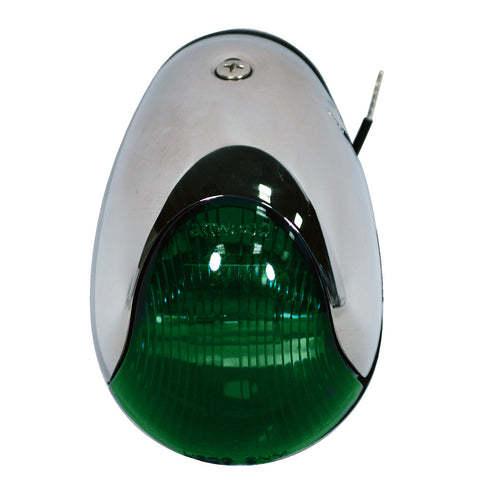 Attwood 2-Mile Vertical Mount, Green Sidelight - 12V - Stainless Steel Housing