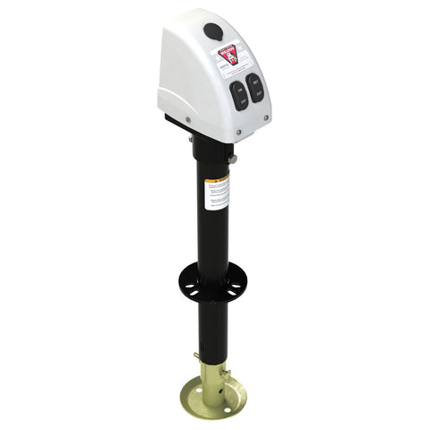 Bulldog 3,500lbs A-Frame RV Jack w/Powered Drive - 12V - White Cover