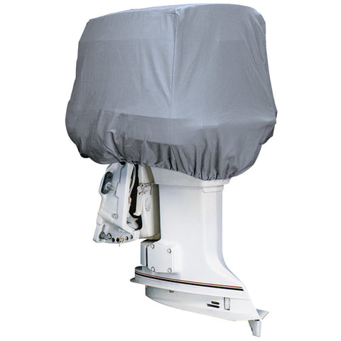 Attwood Road Ready™ Cotton Heavy-Duty Canvas Cover f/Outboard Motor Hood up to 25HP