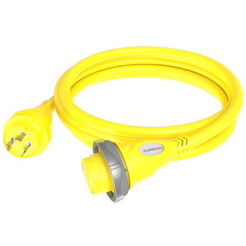 Furrion 30A 125V Marine Cordset 25ft Yellow