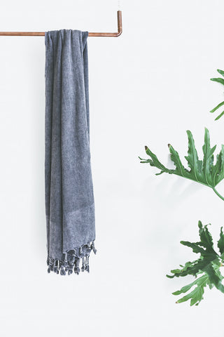 - Portland Towel - Stone Washed -  - Plaj Towel Co. - Premium Handloomed Turkish Towels - Plajtowels.com - 1