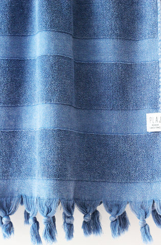 denim - Keats Terry Towel -  - Plaj Towel Co. - Premium Handloomed Turkish Towels - Plajtowels.com - 4