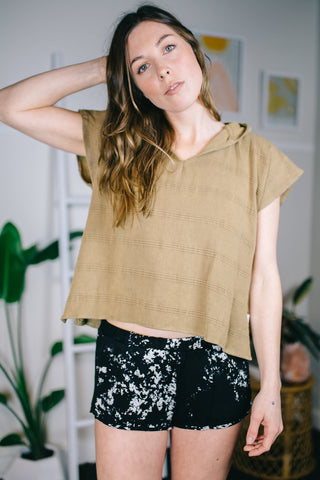 Texada Stone Washed Toddler Poncho / Adult Crop Top