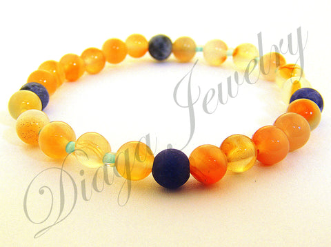 Agate and Sodalite Bracelet