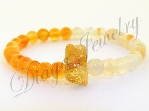Agate and Citrine Bracelet