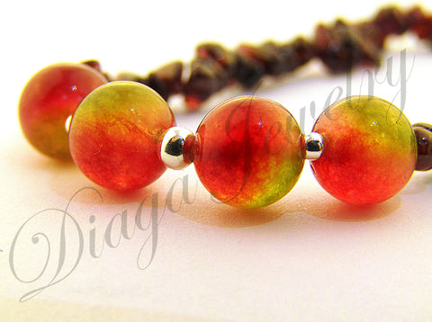 Garnet and Watermelon Tourmaline Bracelet