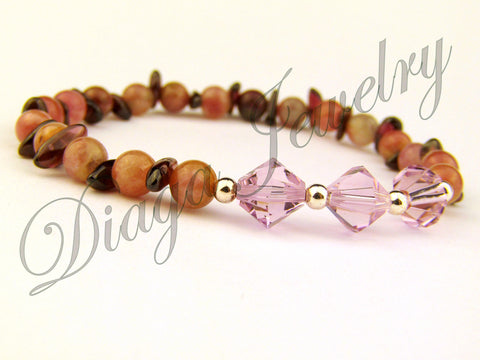 Tourmaline and Swarovski Bracelet