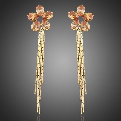 Gold Plated Sunflower Earrings - Diaga Jewelry - 1