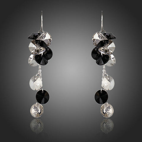Rhodium Plated Crystal Queen Earrings - Diaga Jewelry - 1