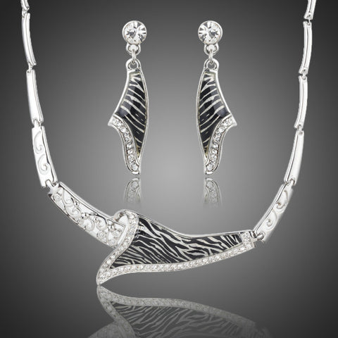 Zebra Design Crystal Jewelry Set - Diaga Jewelry - 1