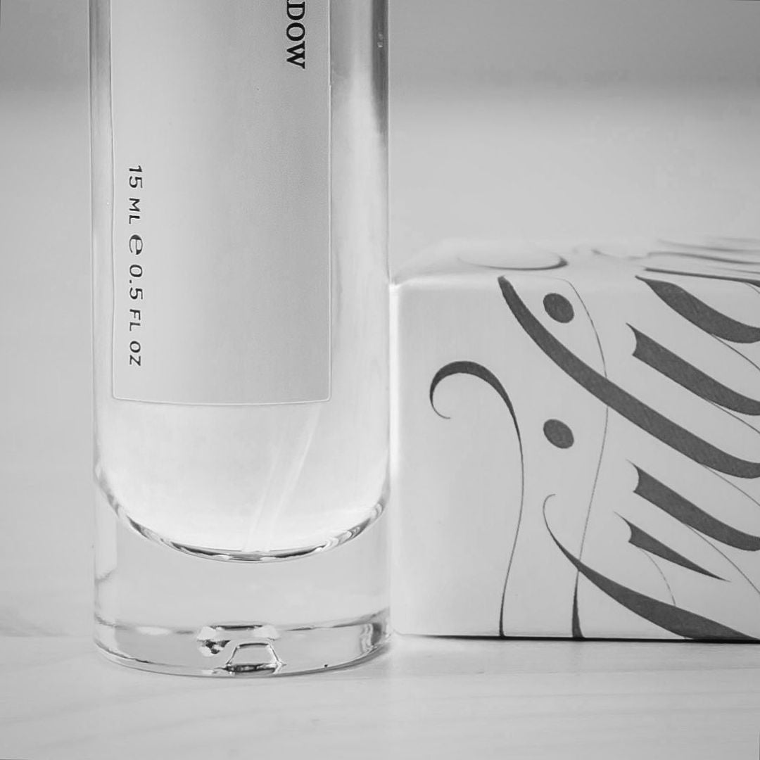 Image of bottle and box detail by James Elliott