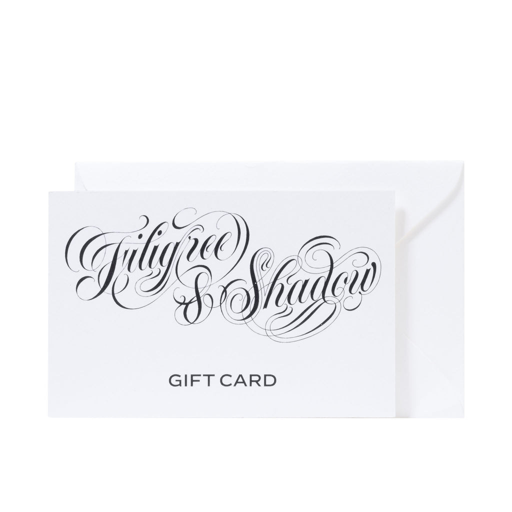 FILIGREE & SHADOW recyclable gift card